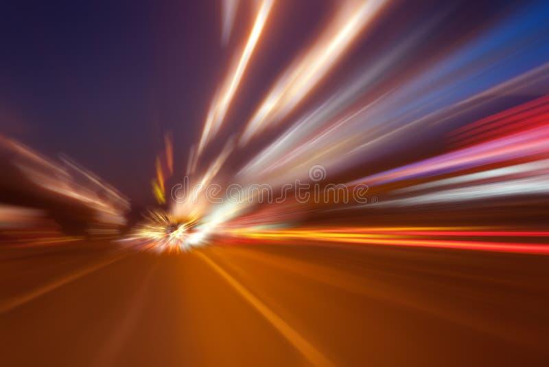 Mouvement ultra-rapide la nuit image libre de droits