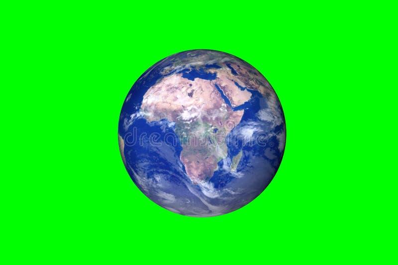 Mouvements de la terre de planète sur le fond vert image libre de droits