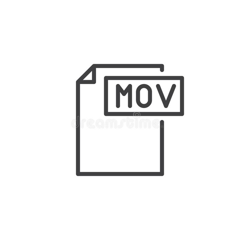 Free Mov Format Document Line Icon Stock Photo - 103146210