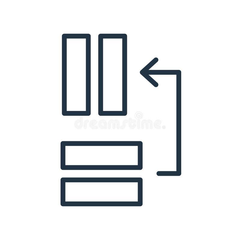 Mova o vetor do ícone isolado no fundo branco, mova o sinal ilustração stock