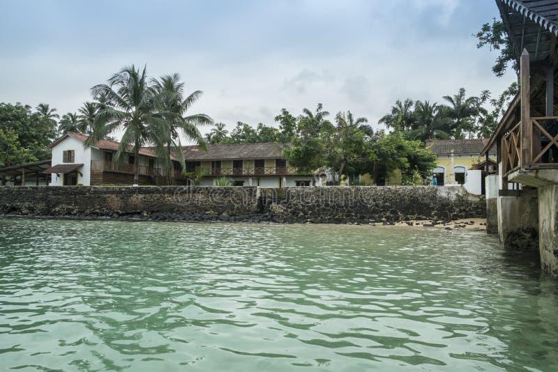 Mova para barcos na ilha tropical de São Tomé África imagens de stock royalty free