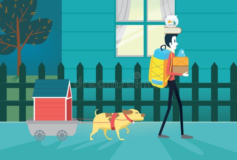 Mova a residência ilustração stock