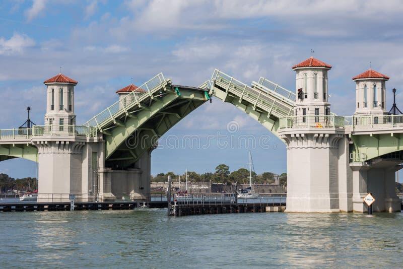 Movable Bascule Bridge, Saint Augustine stock images