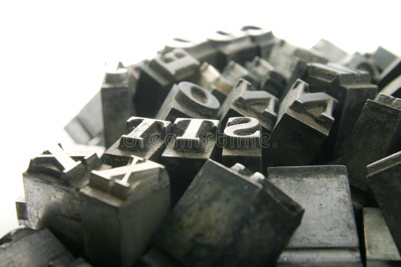 Movable type royalty free stock photo
