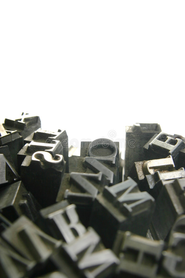 Movable type - background stock photos