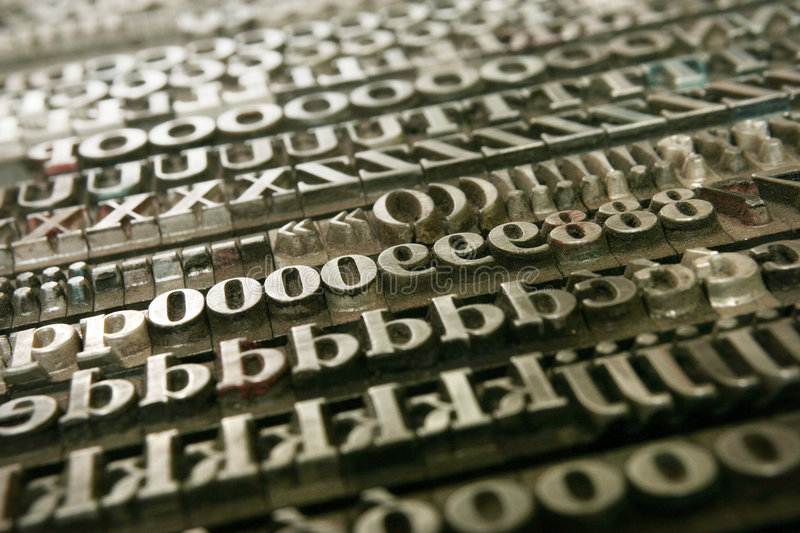 Movable type - background royalty free stock images