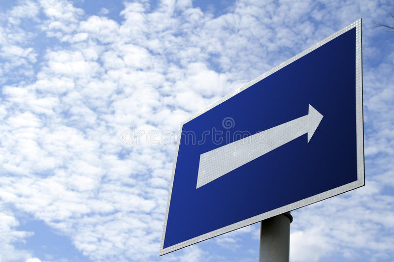 Download Move ahead stock image. Image of blue, arrow, forward - 16422893
