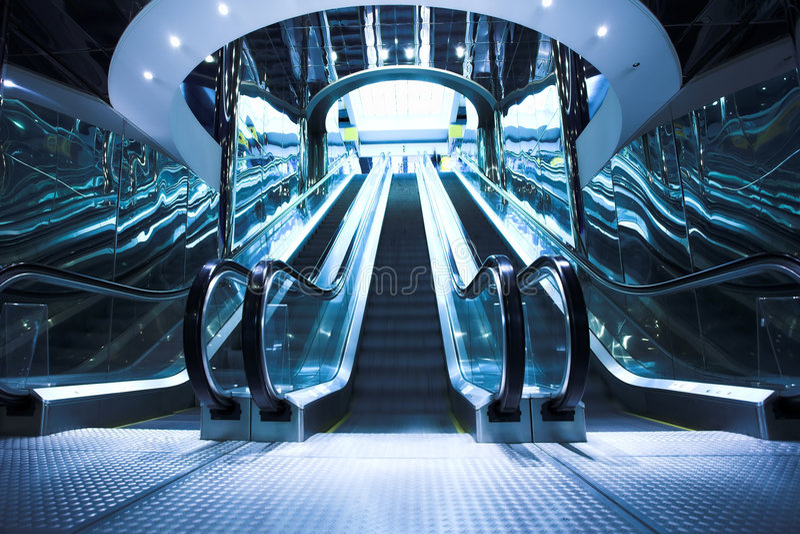 Download Modern escalators stock image. Image of fast, mall, center - 5432101