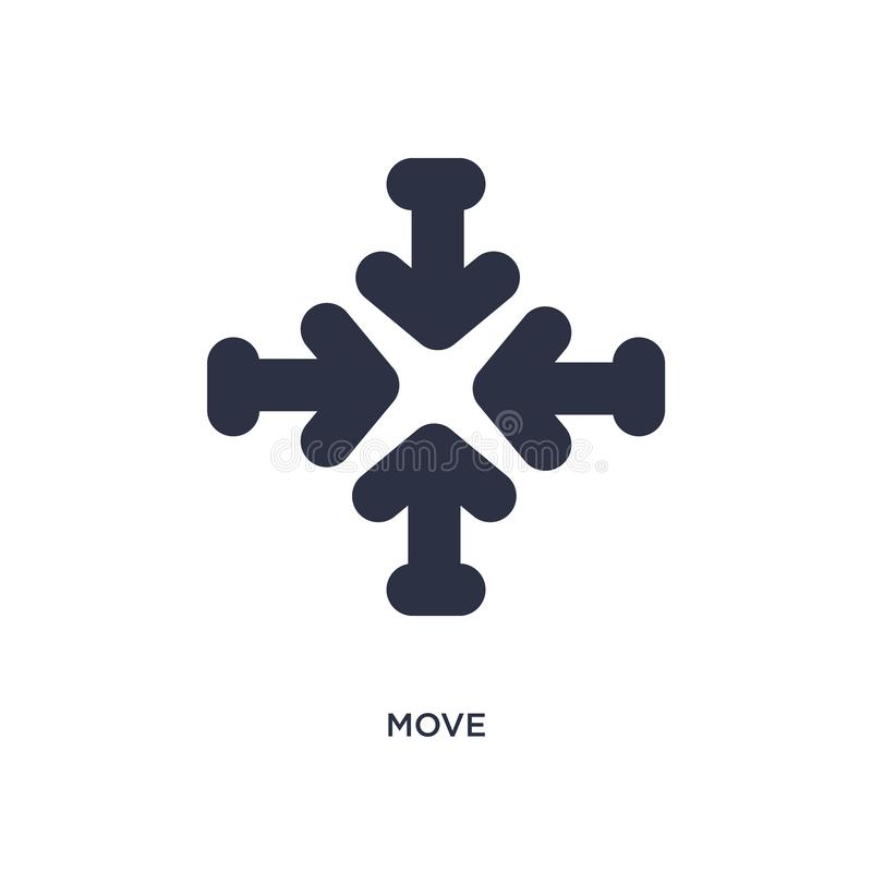 move icon on white background. Simple element illustration from arrows 2 concept stock illustration