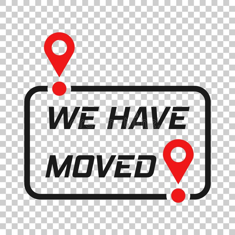 Move location icon in transparent style. Pin gps vector illustration on isolated background. Navigation business concept vector illustration