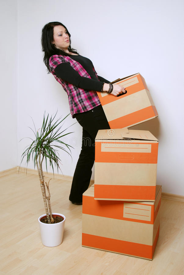 Download Move in new home stock image. Image of heavy, roomer - 16066715