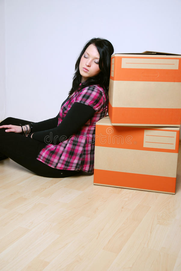 Move In New Home Royalty Free Stock Image