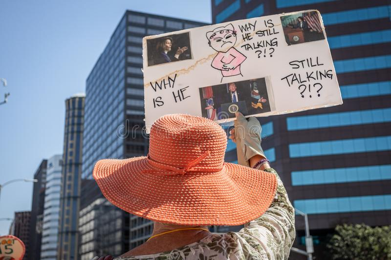 Move To Impeach Rally Wilshire Federal Building stock photography