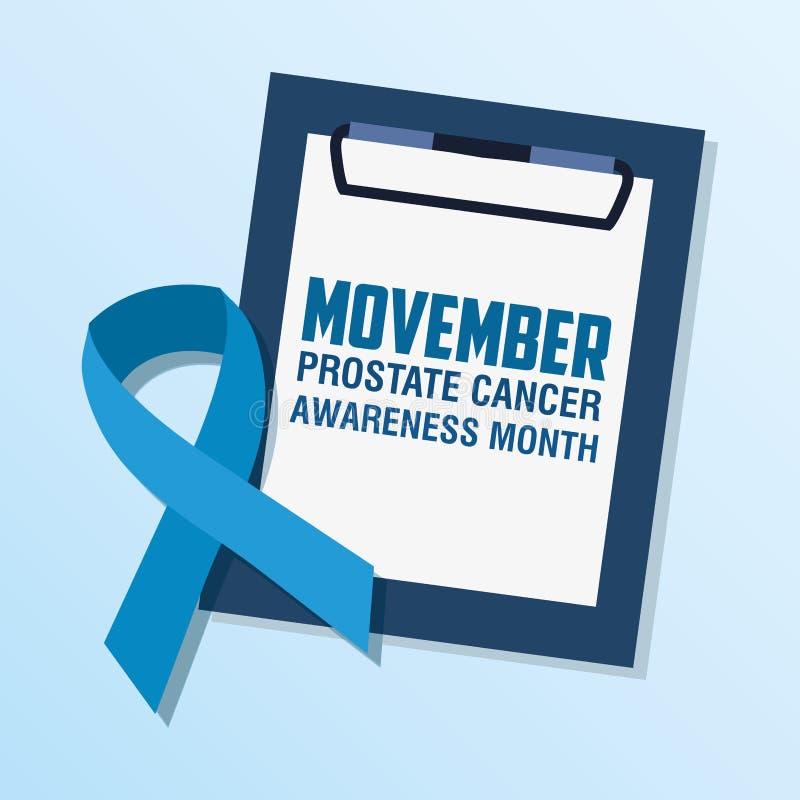 Movember前列腺癌天 皇族释放例证
