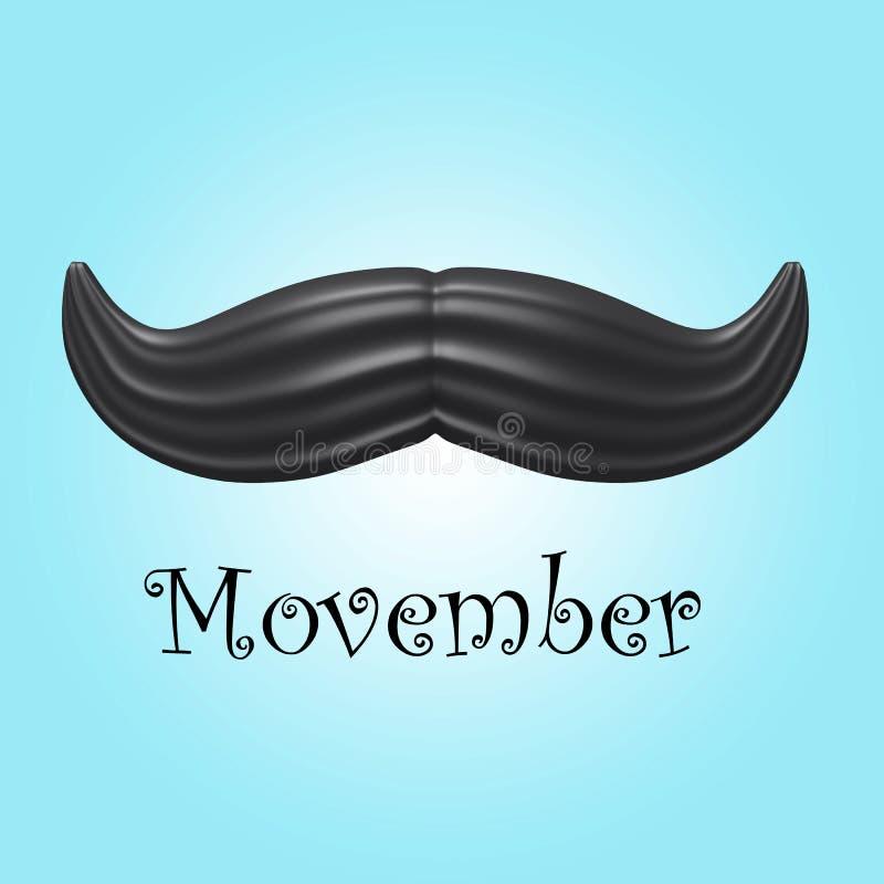 Movember διανυσματική απεικόνιση