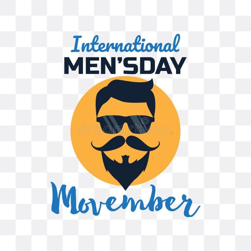 Movember, de dag van internationale mensen vectorillustation stock illustratie
