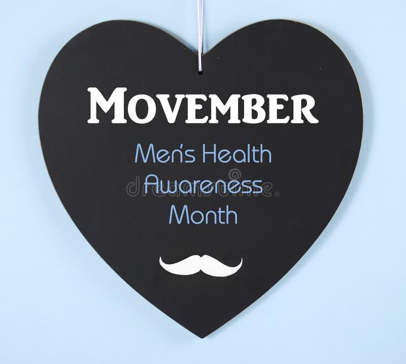 Movember fundraising для сообщения осведомленности здоровья людей на классн классном стоковая фотография