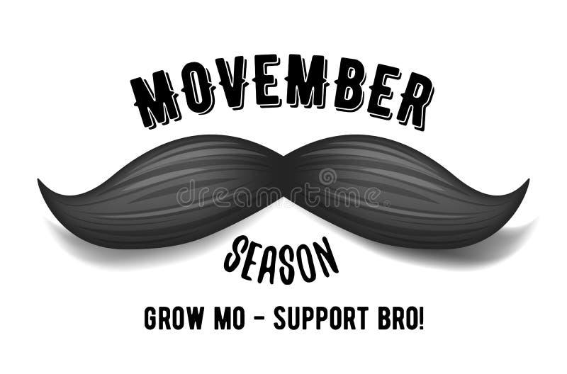 Movember - mese di consapevolezza del carcinoma della prostata Concetto di salute del ` s degli uomini royalty illustrazione gratis