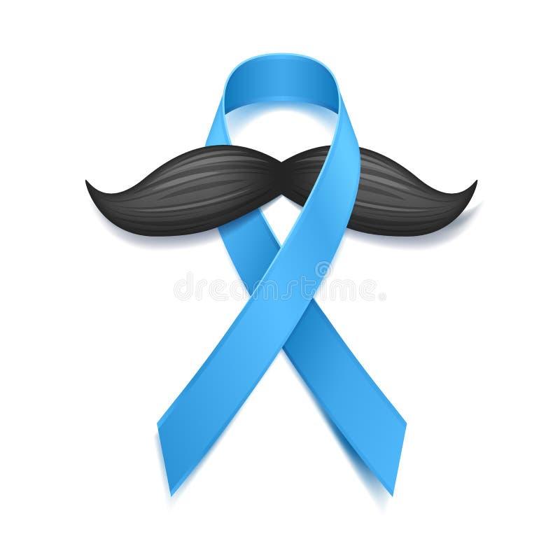 Movember - mese di consapevolezza del carcinoma della prostata Concetto di salute del ` s degli uomini illustrazione di stock