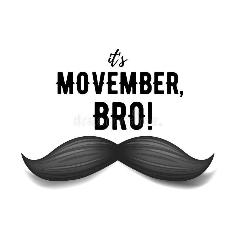Movember - mese di consapevolezza del carcinoma della prostata Concetto di salute del ` s degli uomini illustrazione vettoriale