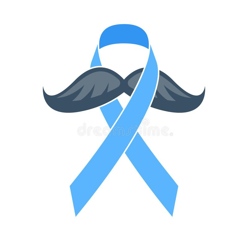 Movember - prostate cancer awareness month. Men`s health concept. vector illustration