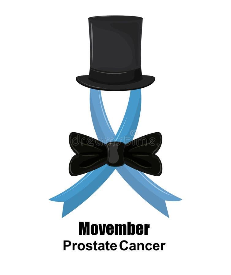 Movember prostate kanker stock illustratie