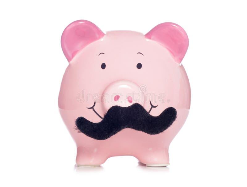 Movember spargris royaltyfria bilder