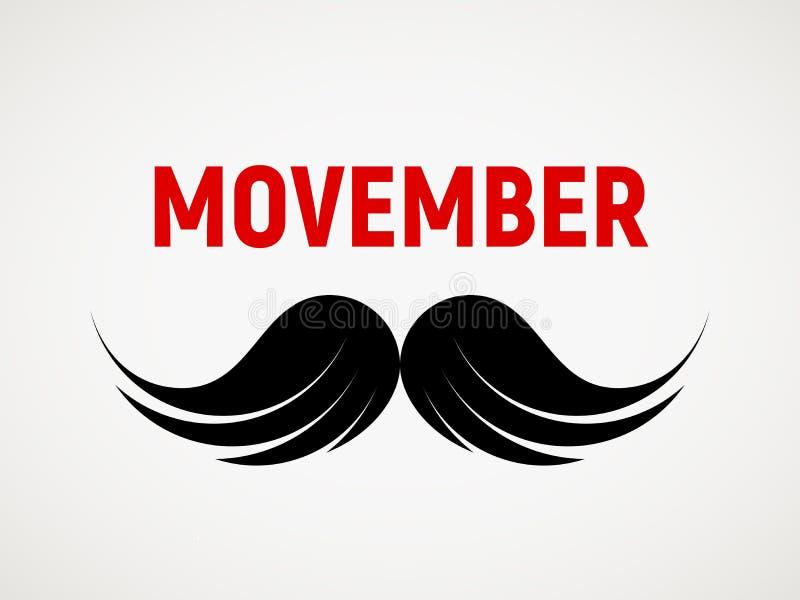 Movember Vectorsnorpictogram vector illustratie