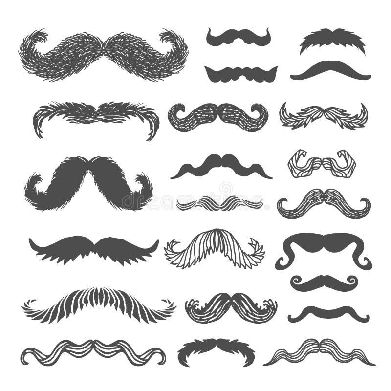 Movember wąsy set royalty ilustracja