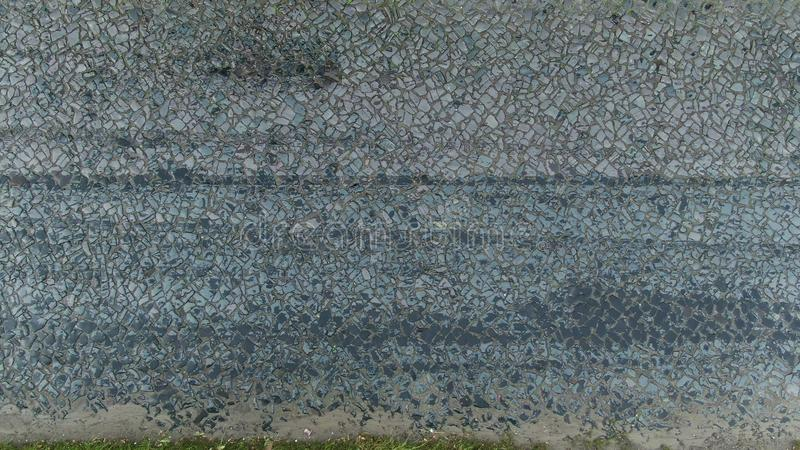 Movement along the pavement, top view. Urban paving slabs stock image