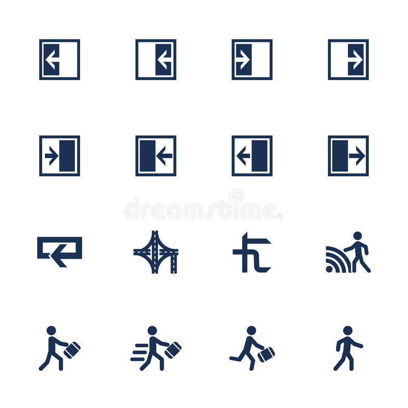 Movement direction icons royalty free illustration