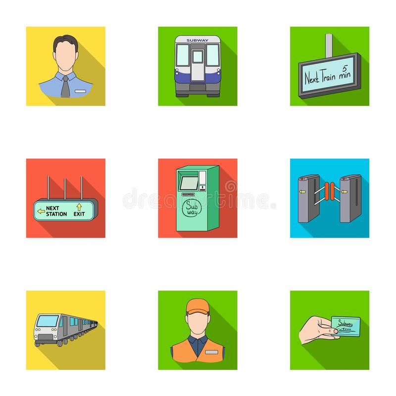 Movement, electric transport and other web icon in flat style.Attributes, public, means, icons in set collection. stock illustration