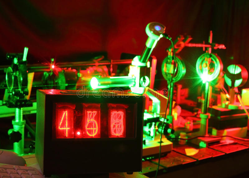 Download Movement Of Microparticles By Laser In Lab Stock Image - Image: 27108027