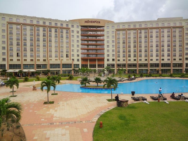 Movenpick旅馆在加纳 免版税图库摄影