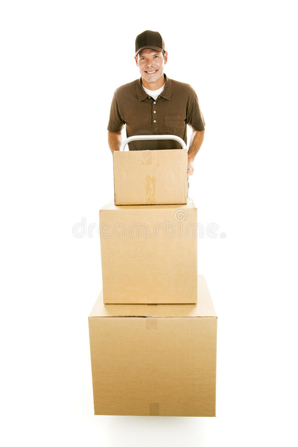 Mover With Boxes Royalty Free Stock Photos