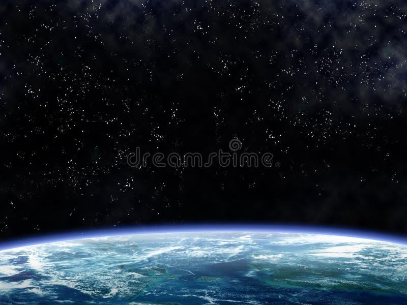 Mover en órbita alrededor de la tierra stock de ilustración