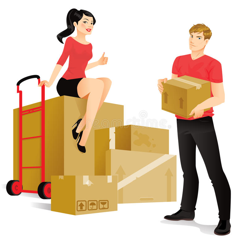 mover-se ilustração royalty free
