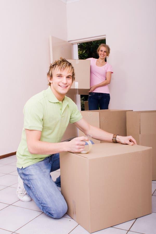 Mover-se da casa fotografia de stock