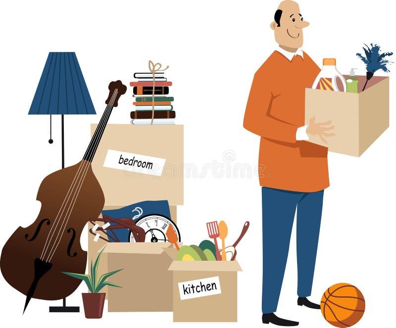 Mover-se dentro ilustração do vetor