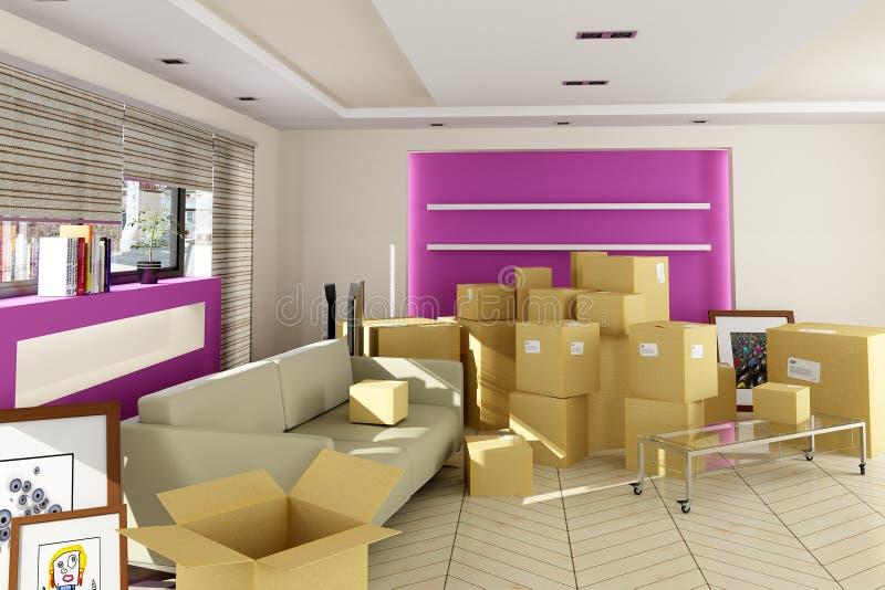 Mover-se dentro ilustração royalty free