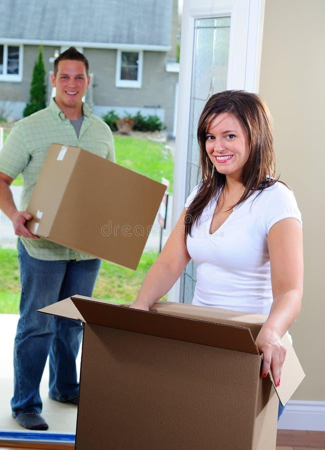 Mover-se dentro imagens de stock