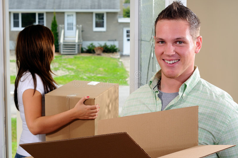 Mover-se dentro imagem de stock