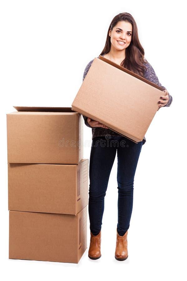 Mover-se em minha casa nova foto de stock