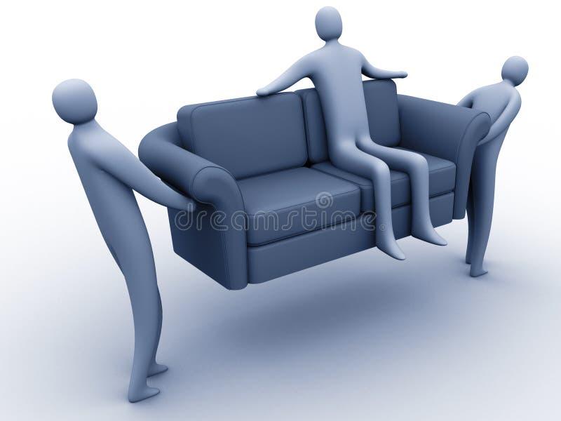Download Mover-se fácil ilustração stock. Ilustração de relaxe, pessoa - 100896