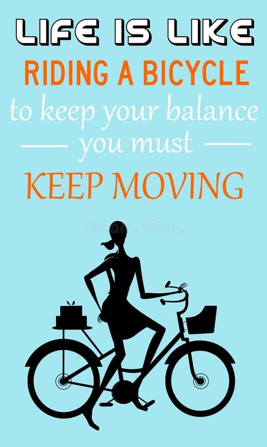 Mover-se Keep ilustração stock
