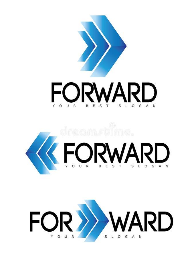 Mover-se Logo Concept para a frente ou do avanço ilustração stock