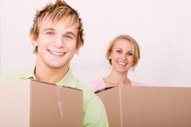 Mover-se na HOME nova imagens de stock