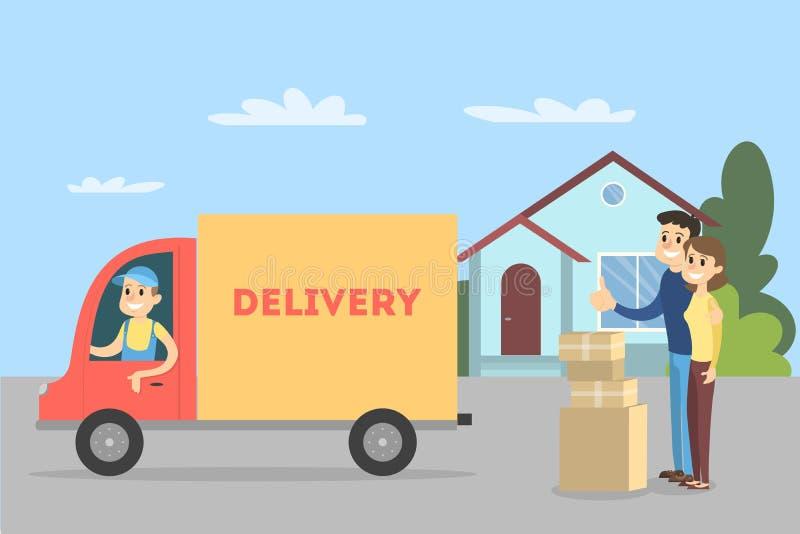 Mover-se para a casa ilustração royalty free