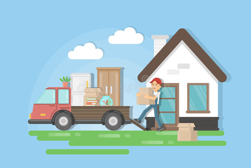 Mover-se para uma casa nova ilustração royalty free