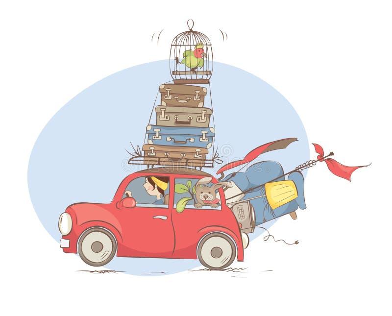 Mover-se para uma HOME nova ilustração stock